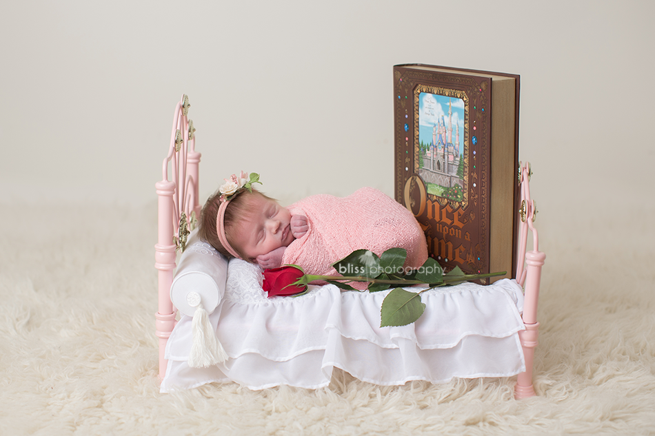 disney sleeping beauty newborn photo