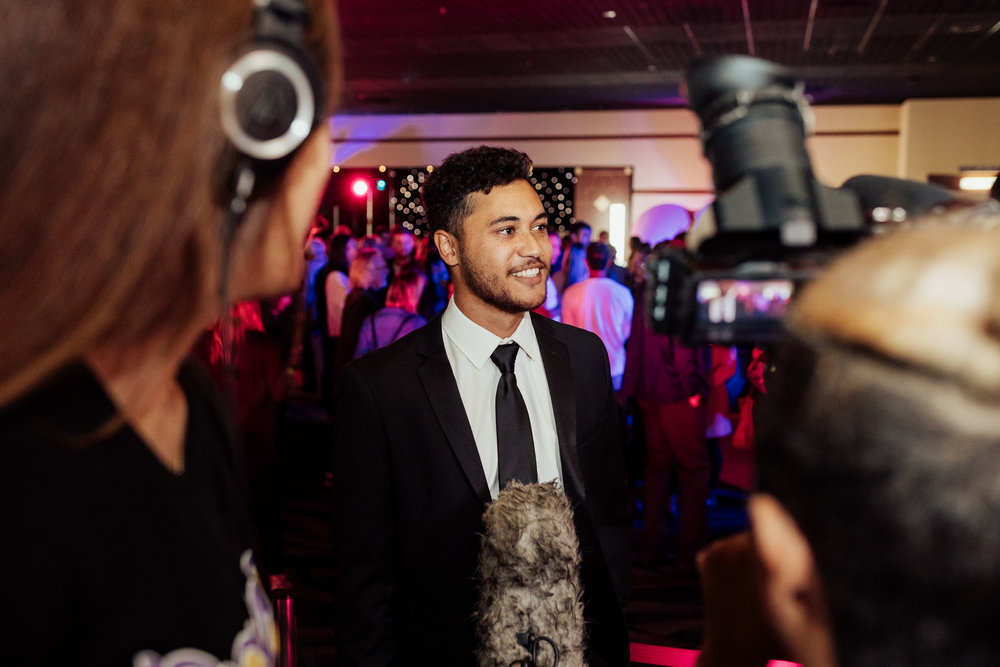 James Rolleston at 'The Breaker Upperers' premiere.