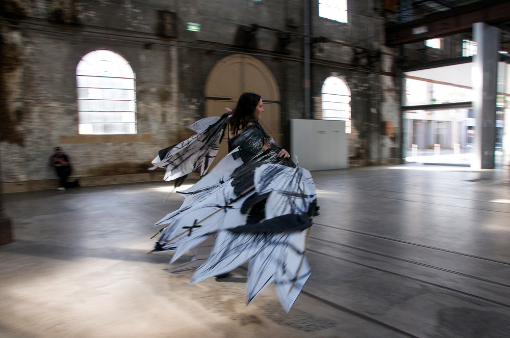Flying, 2013, performance for Blank Canvas at Carriageworks, duration variable