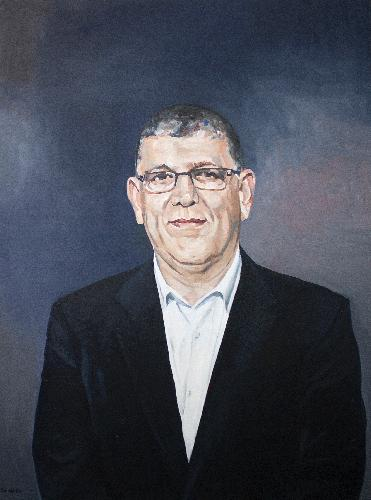 The Honourable John Ajaka, President of the NSW Legislative Council, 2017, oil on canvas commissioned by Family and Community Services NSW