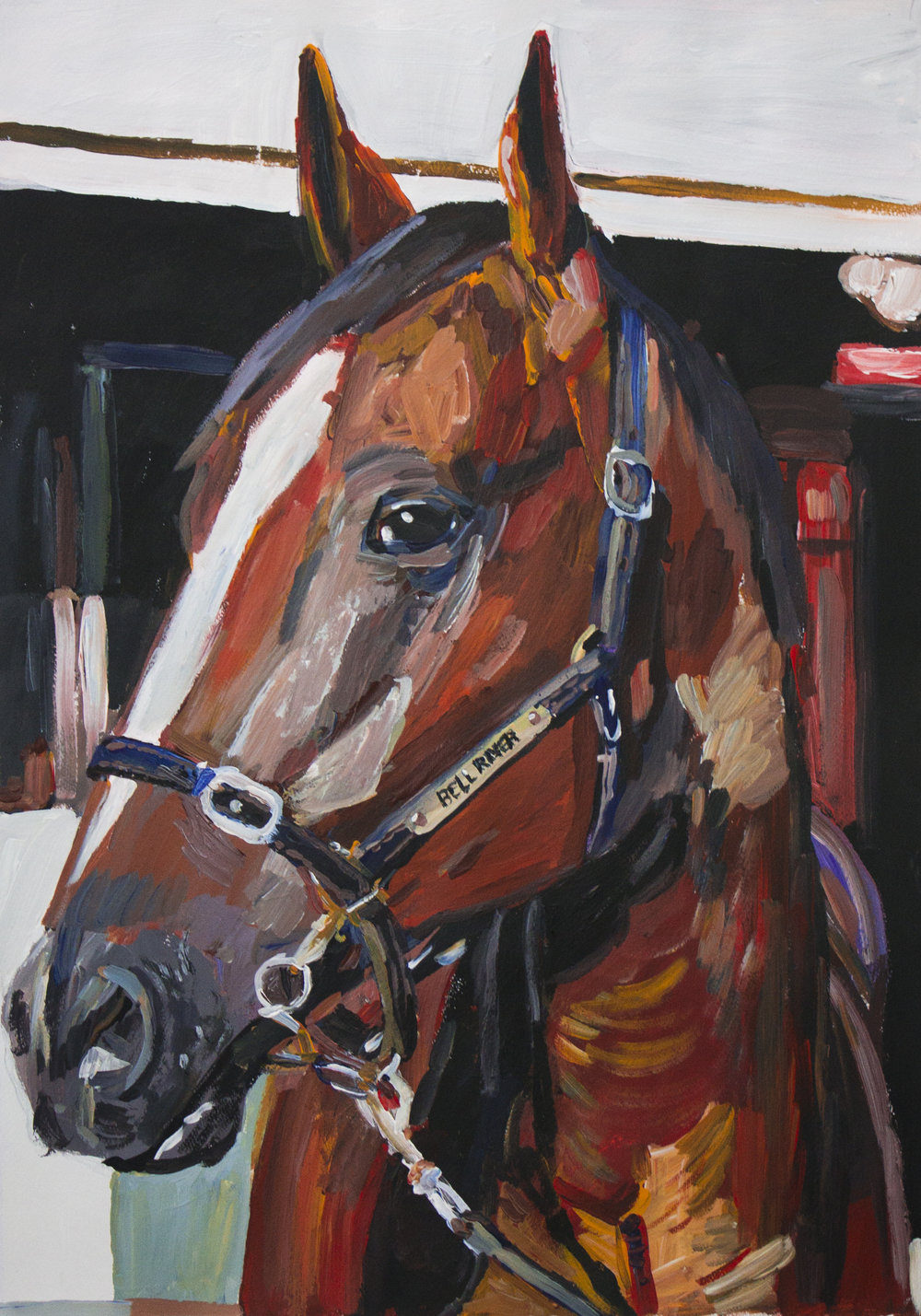 Untitled (Horse), 2015, oil on canvas, 48x68cm