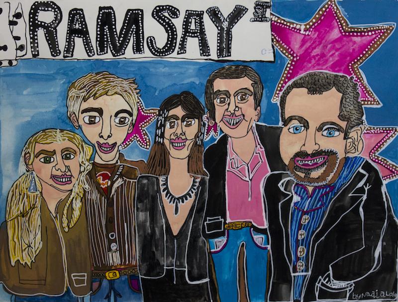 Ramsay Street, 2016, gouache and posca on paper, 76.5x57cm