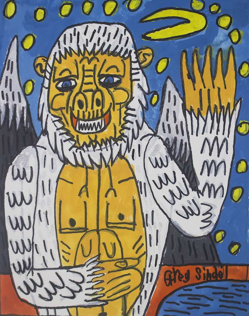 The Abominable Snowman, 2016, gouache and posca on paper, 21x28cm