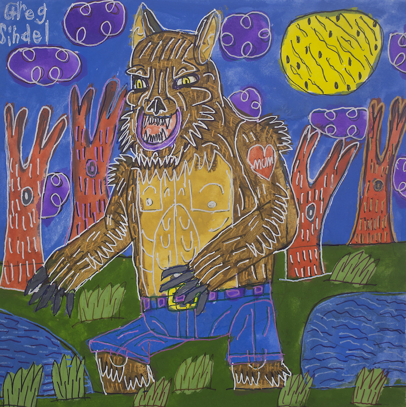 The Werewolf of Fever Swamp, 2016, gouache and posca on paper, 2016