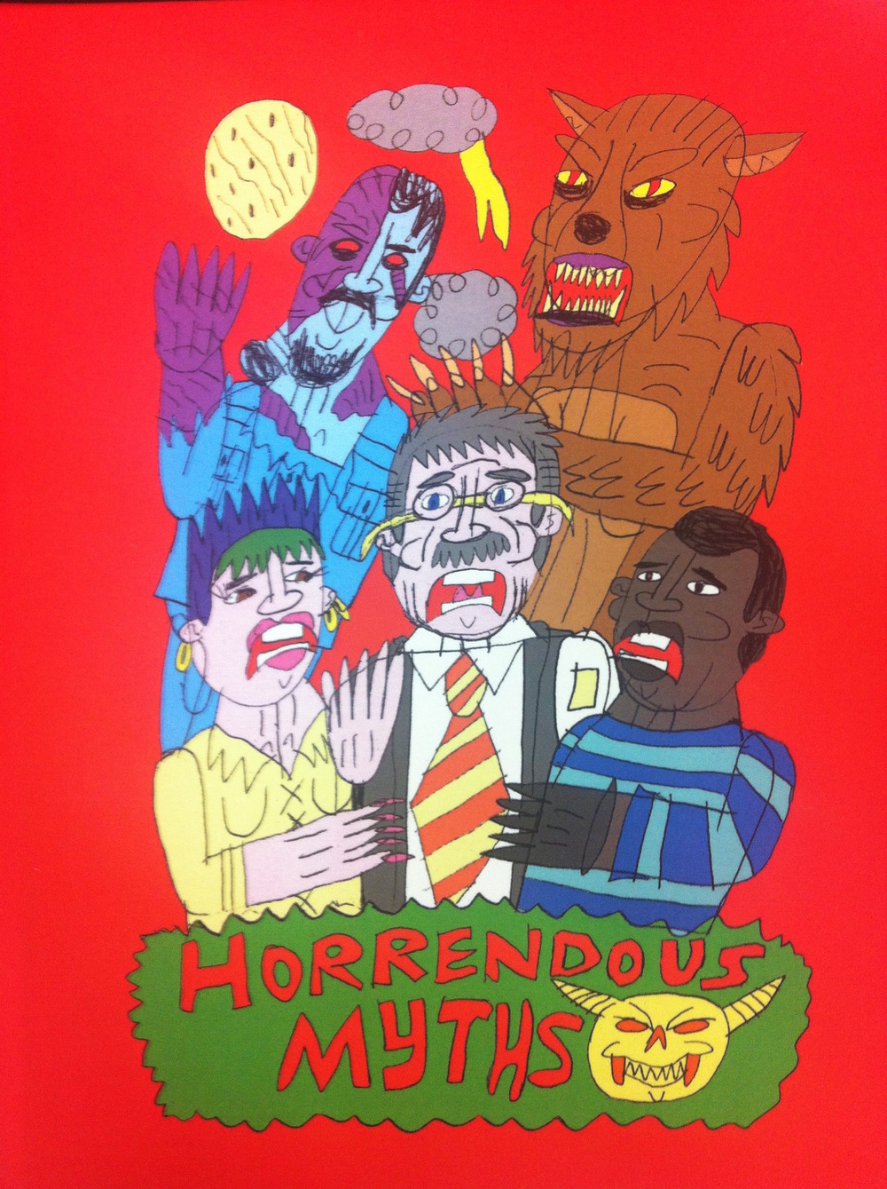 Greg Sindel's graphic novel, Horrendous Myths, 2015, featured for sale at Sydney Contemporary 2015.