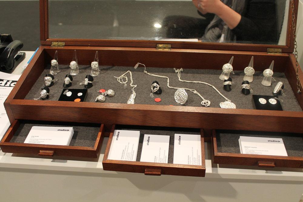 Artisan Jewellery by Greg Sindel and Mathew Calandra made especially for Sydney Contemporary, 2015