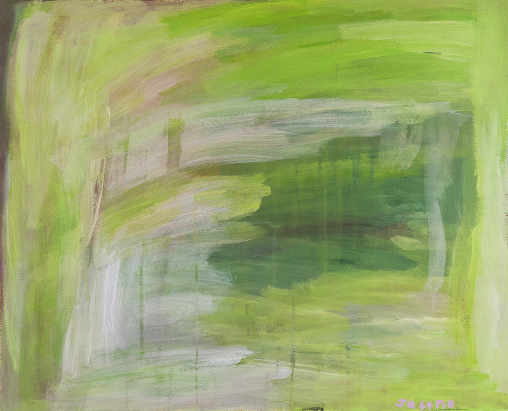 A Forest, 2015, acrylic on paper, 70x55.5cm