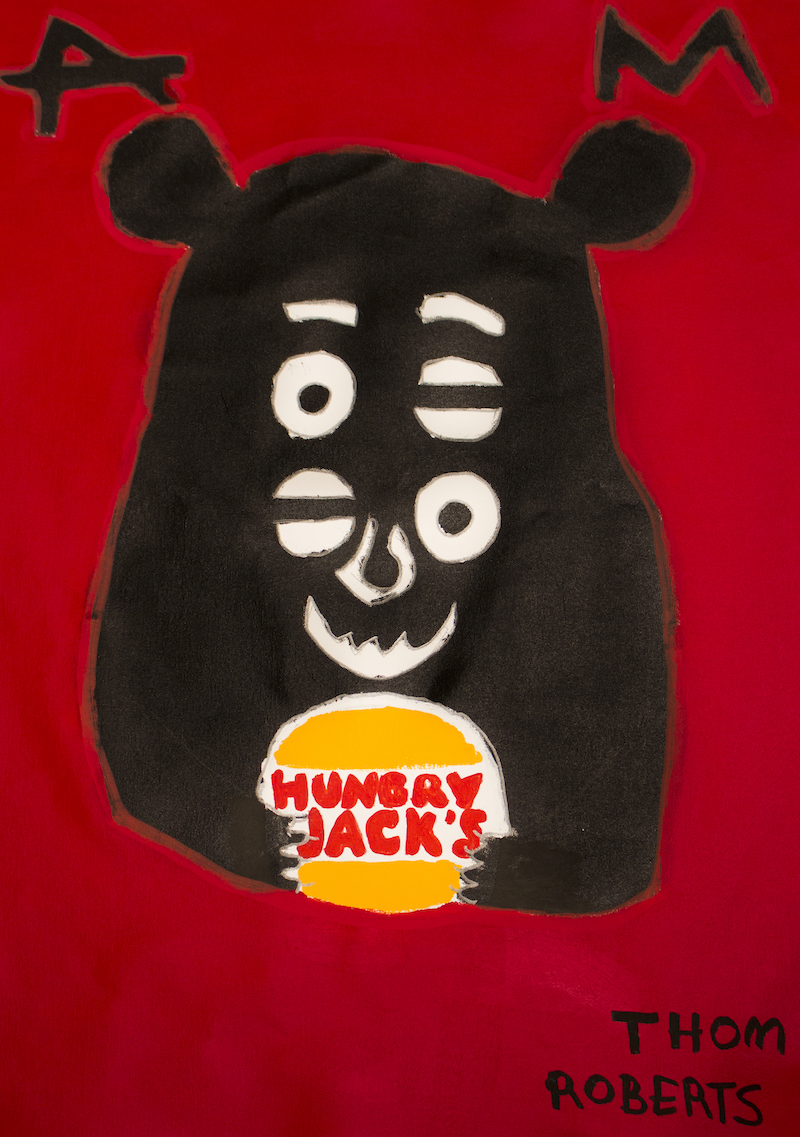 Thom Roberts,Thom Roberts Loves Hungry Jacks,acrylic on canvas, 82x98cm
