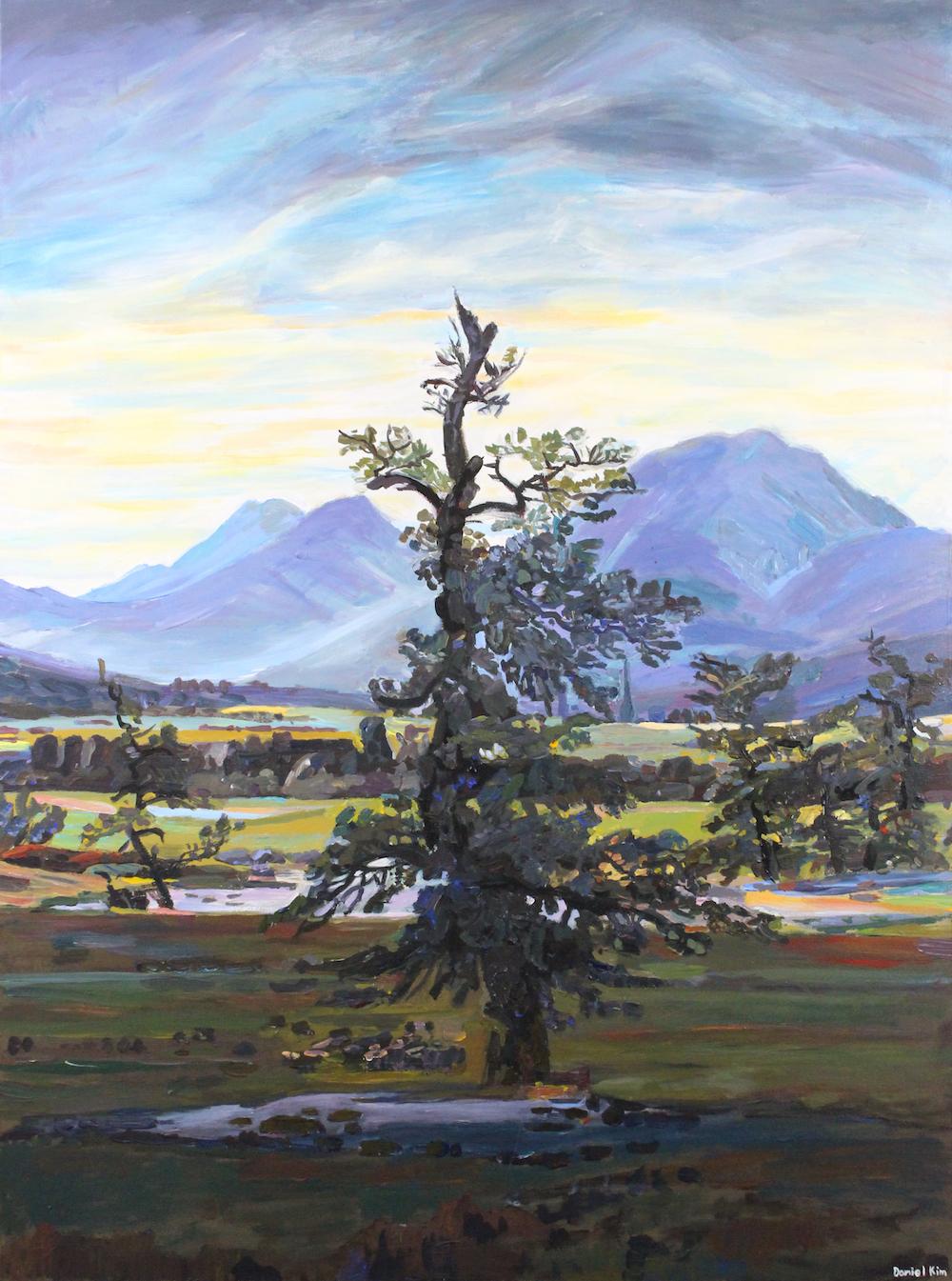 Landscape after the romantics, 2018, acrylic on canvas, 91x121cm