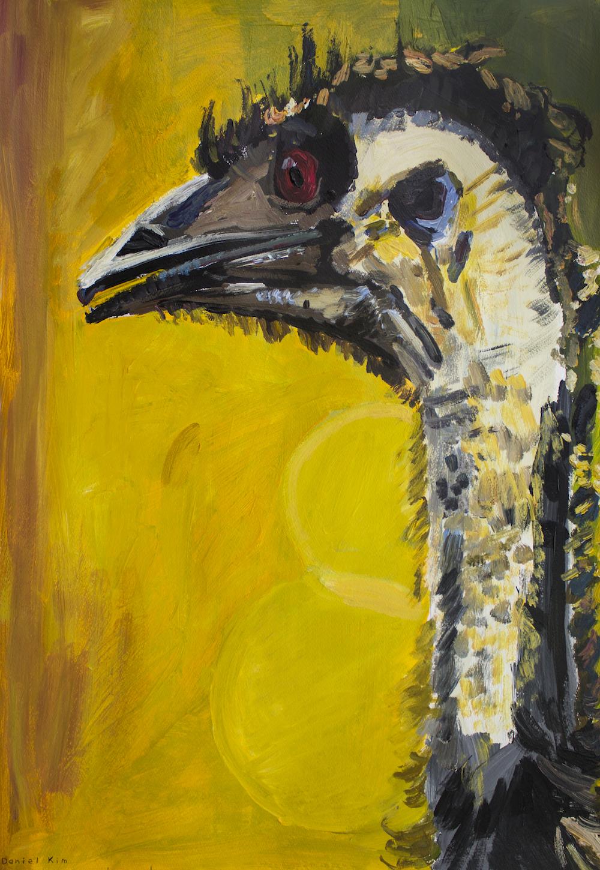Emu, 2017, oil on canvas, 50x70cm