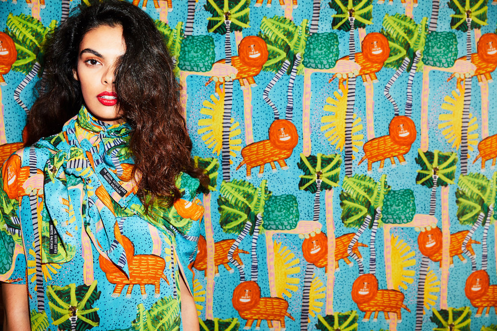 Annette Galstaun  collaborated with  The Social Outfit  to design the  Lioness  print, one of the highlights of  King Botanic  The Social Outfit's Spring/Summer 2018-19 collection.