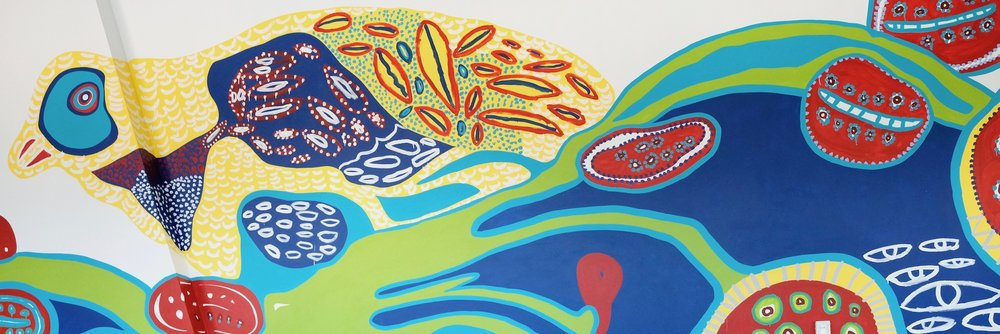 Emily Crockford's 39 metre mural commissioned for Westpac Concord Office, October 2018.