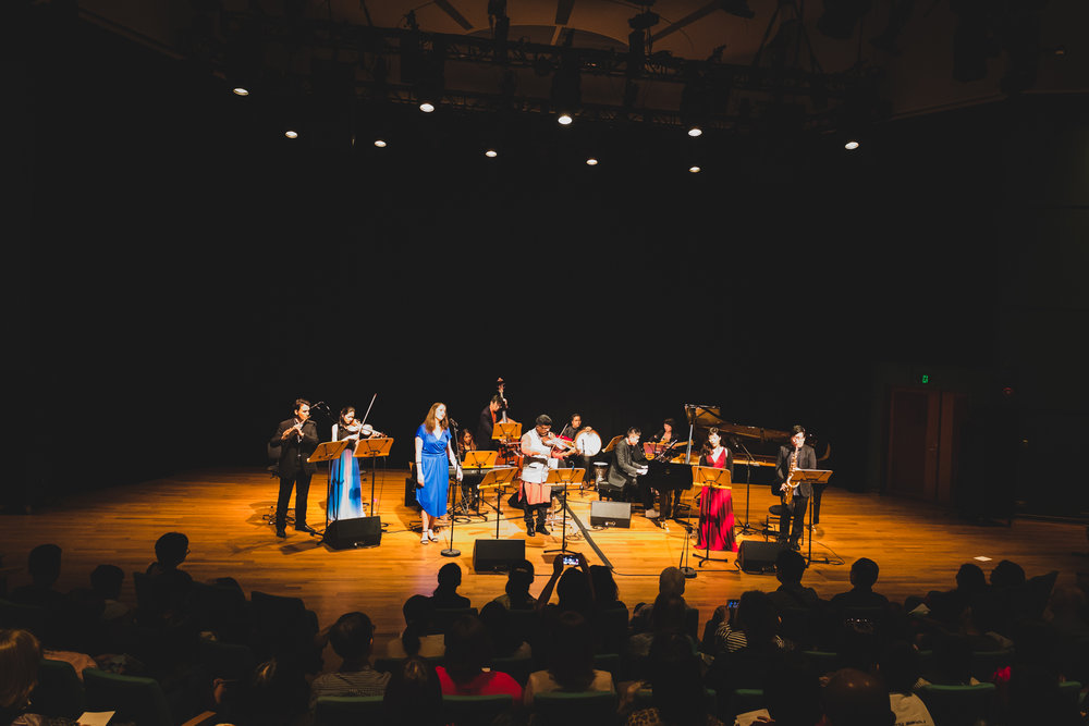 Concert Oumuamua (7th April 2018, Esplanade Recital Studio). Photo by Wei Yuet.
