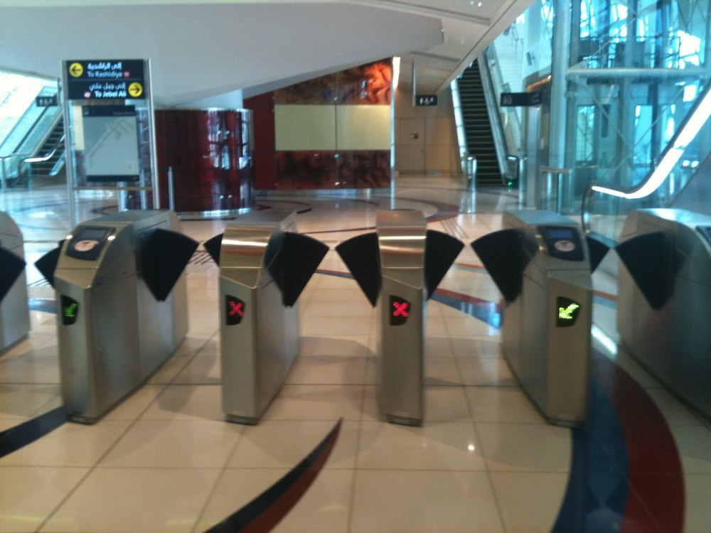 The Dubai Metro entry gates