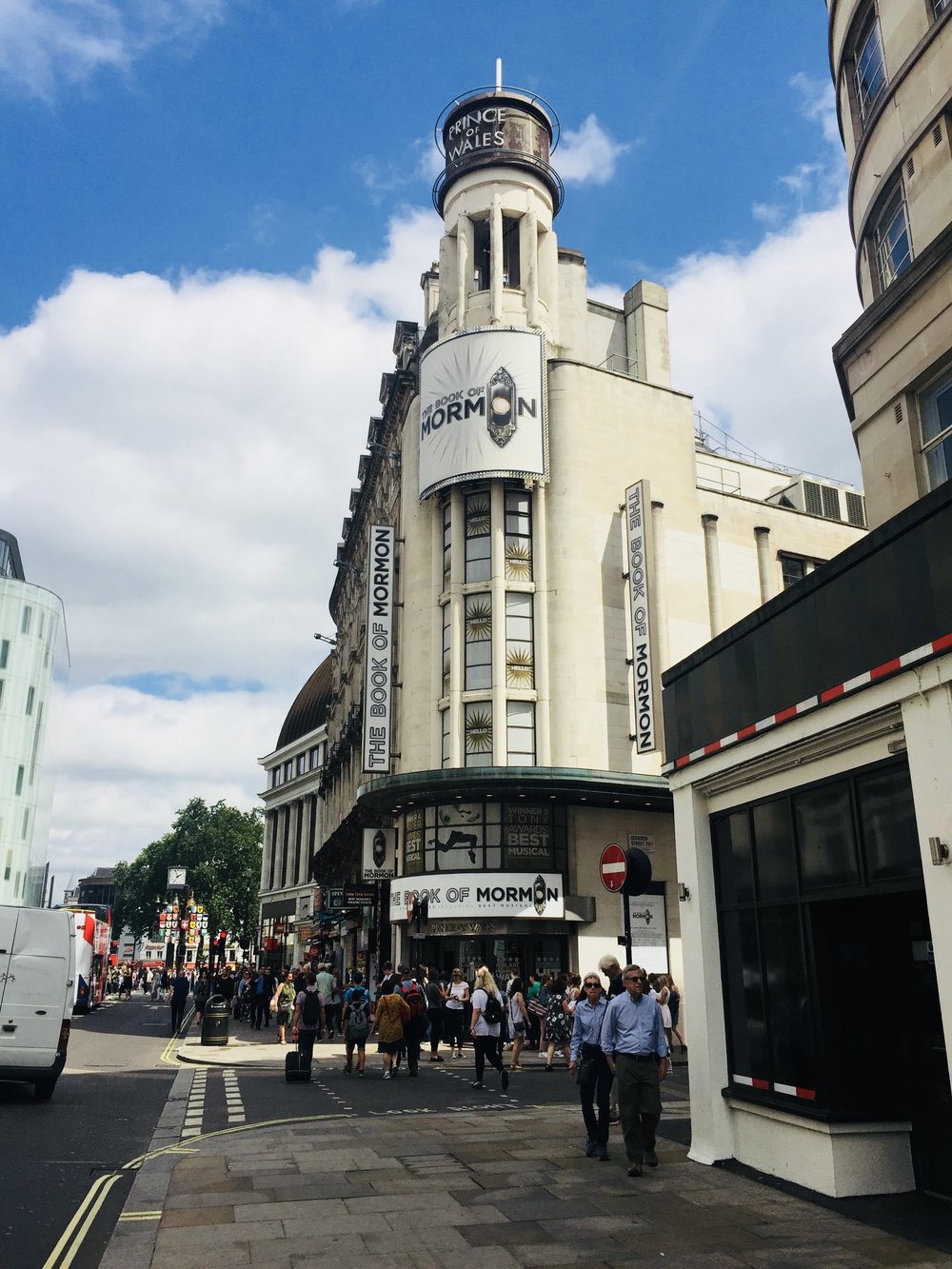 travel guide to london: book of mormon