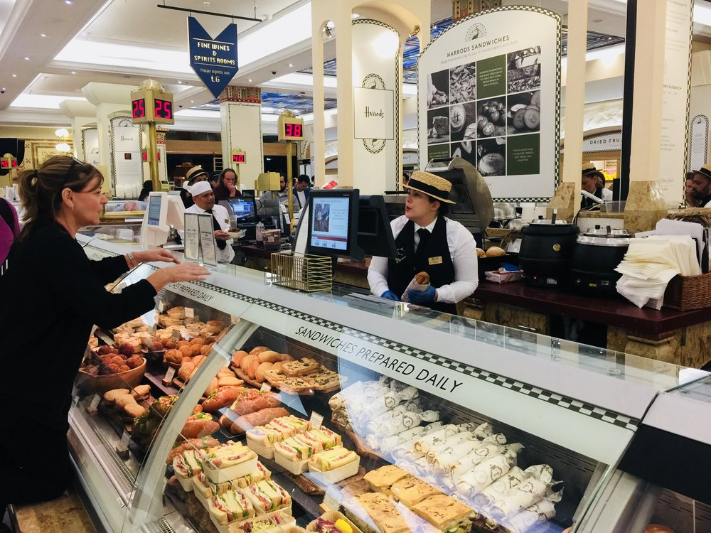 travel guide to london:Harrods Food Stalls