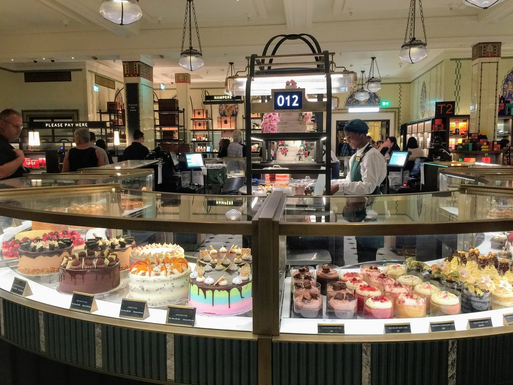 travel guide to london: Harrods Food Stalls