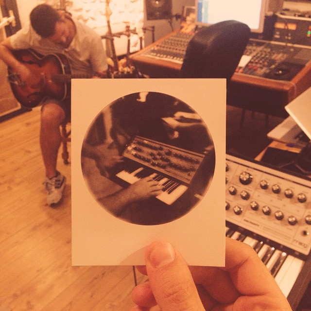 Polaroid 1 of 16 of our recording times at #elinvernadero #madrid #round #polaroid #beingberber