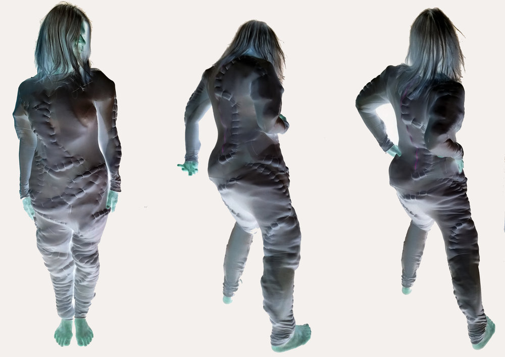 Monster Suit 2015 Costume Body Suit Study for Site Specific Performance Installation Various dimensions