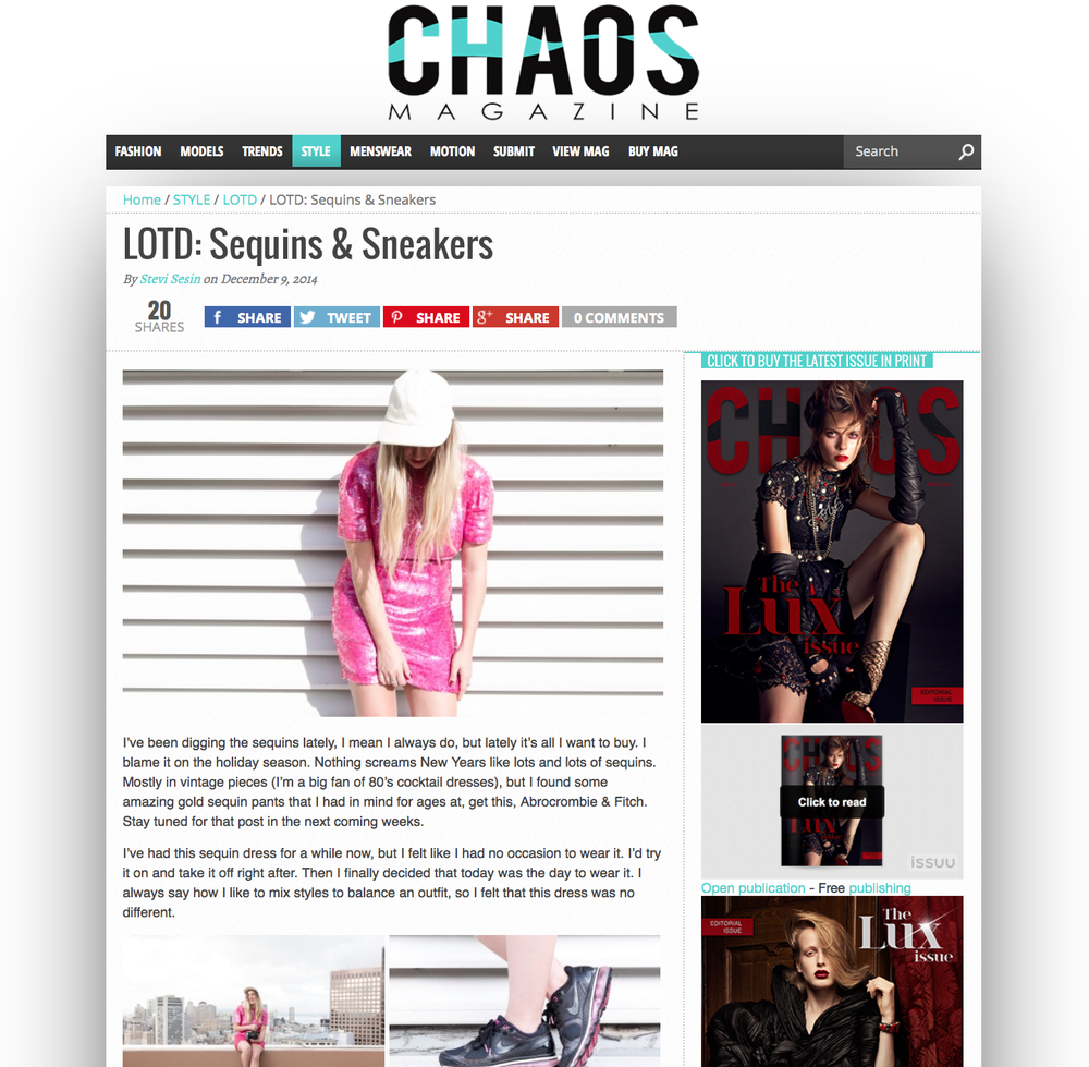 Chaos Mag: Sequins & Sneakers