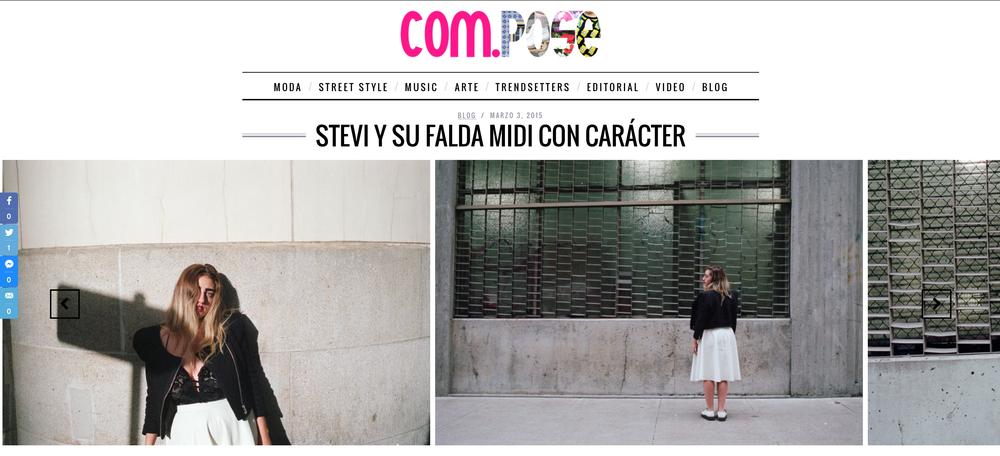 Compose Revista: STEVI Y SU FALDA MIDI CON CARÁCTER