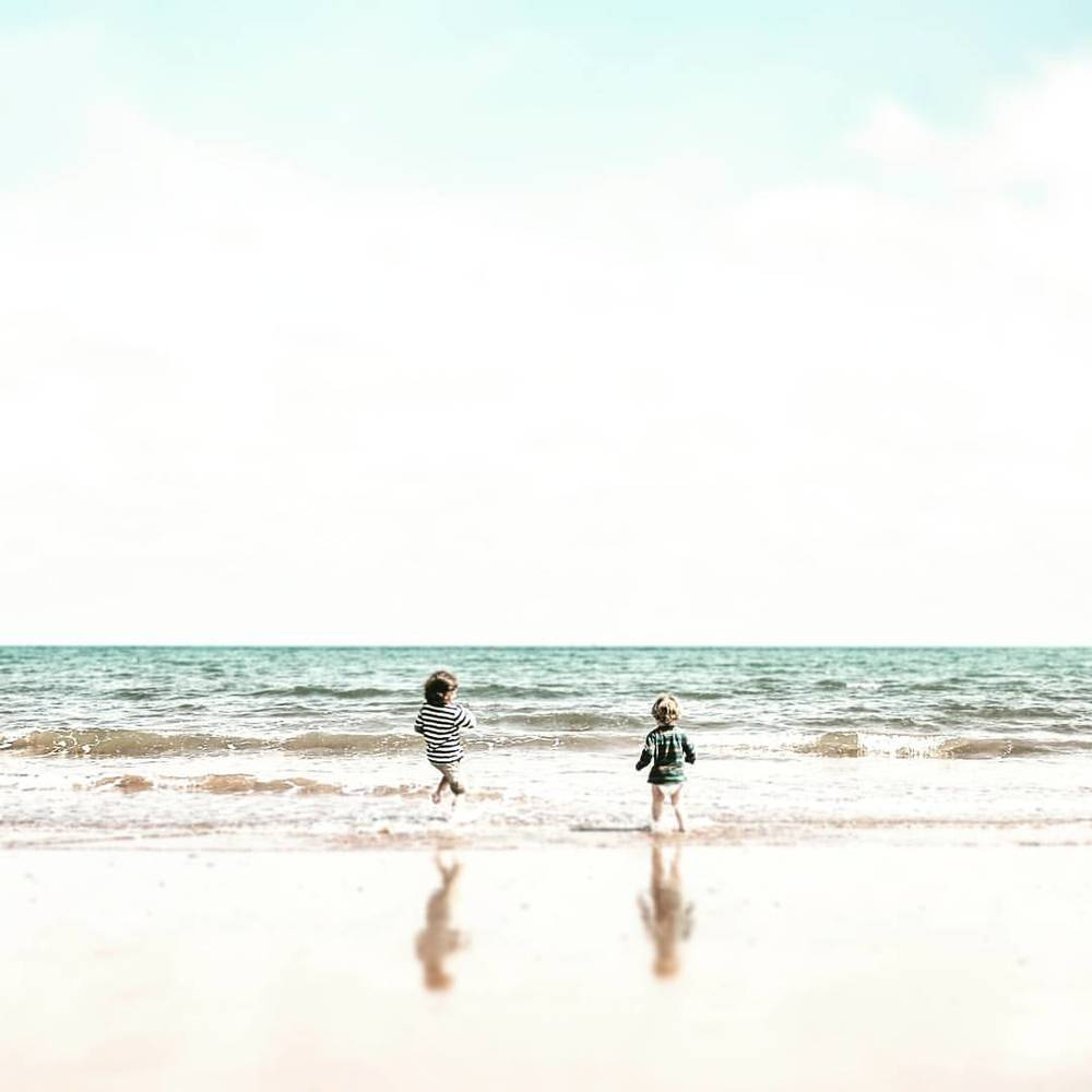 My little inspirations #sons #sea #vsco #nikon #Paignton #water #paddling
