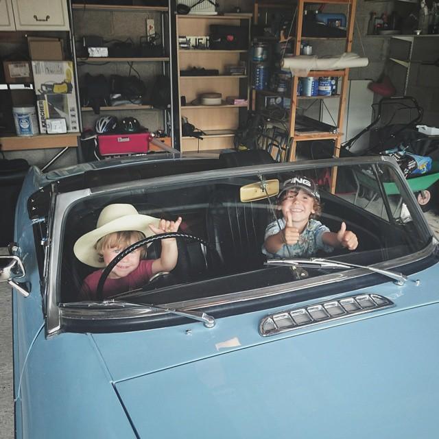My boys in Grandads #MG :-) #VSCOcam #vsco