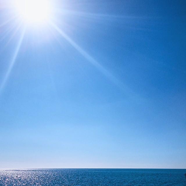 #goodmorning #sun #sea #bigblue #ocean #rays #beach #VSCOcam #VSCO