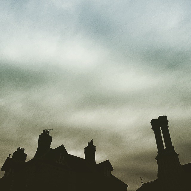 #VSCOcam #VSCO #chimneys #rooftop #arcitecture #sky #clouds #silhouette