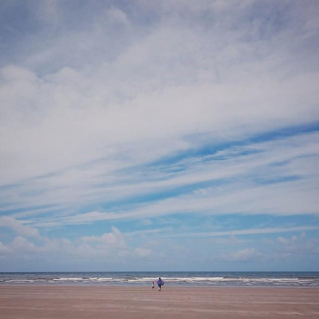 #beach #sky #sons #mum #paddle #Wales #Poppit #VSCOcam #VSCO #dirtygreatbigwide