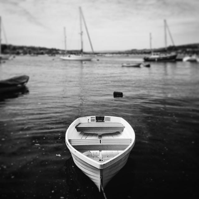 #VSCOcam #VSCO #mono #boat #sea #tiltshift