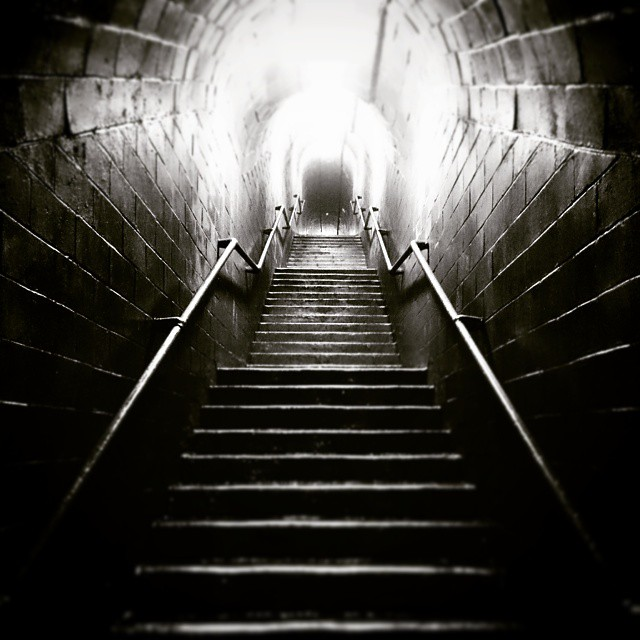 #mono #tunnel #steps #unknown #tiltshift #VSCOcam #vsco