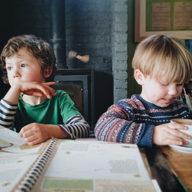 My boys :-) #sons #hotchocolate #ponder #dinosaurs #ode #shaldon