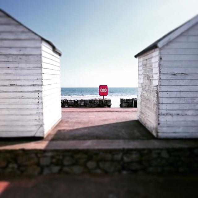 #beachhut #tiltshift #beach #Devon #paignton