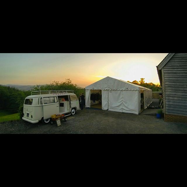 The Photo Bus on a booking last year, stunning #Devon #sunset #photobooths #wedding #event #vwcamper #vwbus #volkswagen
