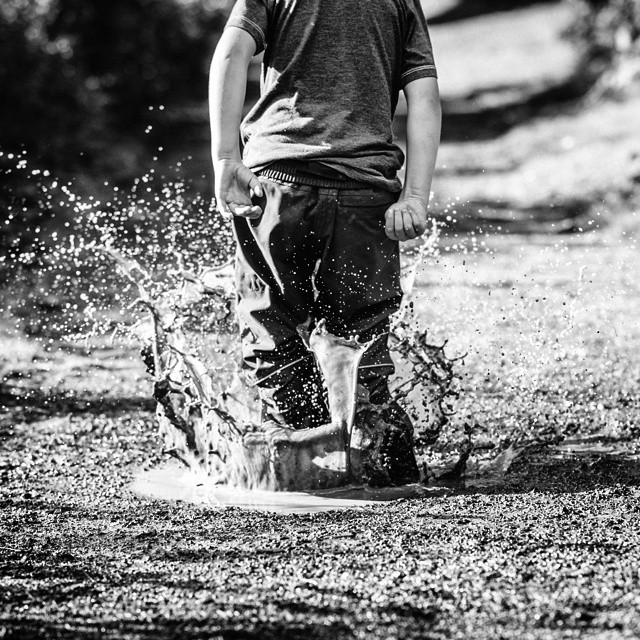 #puddles #splash #mono #blackandwhite #action