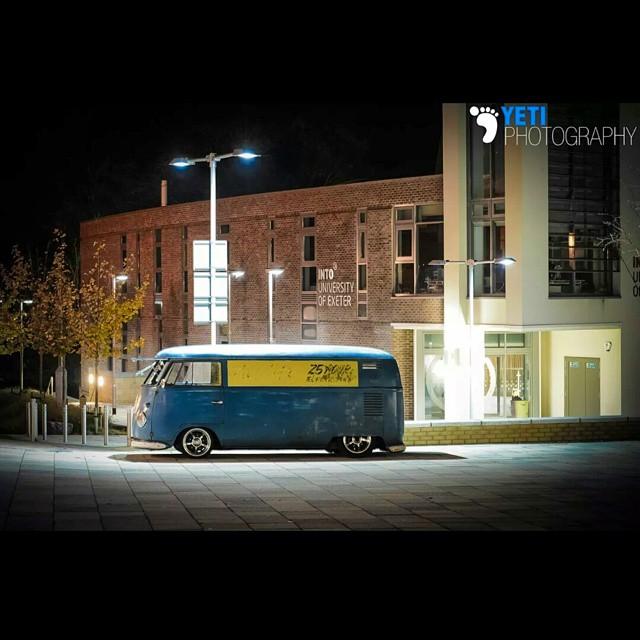 #Hayburner #vwbus #Volkswagen #kombi #camper #patina #slammed #lowandslow #panelvan #original #Exeter #nikon #nightphotography #longexposure