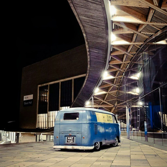 From a shoot I did for #Hayburner Magazine (www.hayburner.co.uk) #vwbus #kombi #vwcamper #volkswagen #Exeter #university #busporn #nightphotography #longexposure #panel #patina #lowandslow #oldvwclub