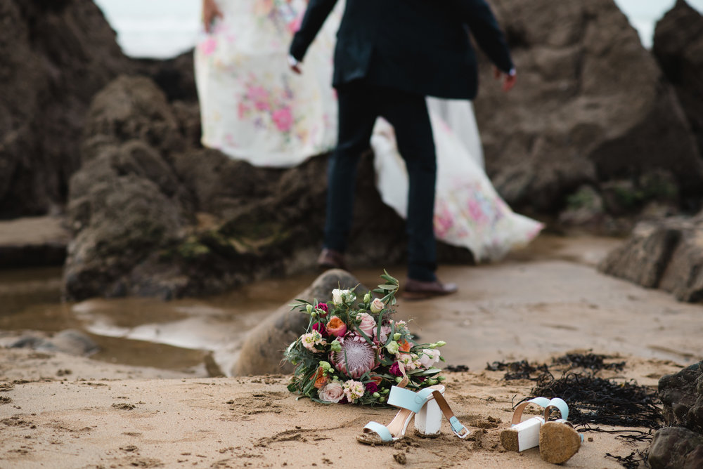 bude wedding beach wedding