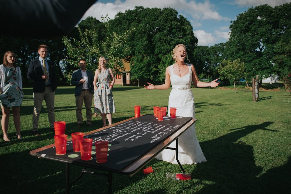 beer pong wedding photo froginwell vineyard