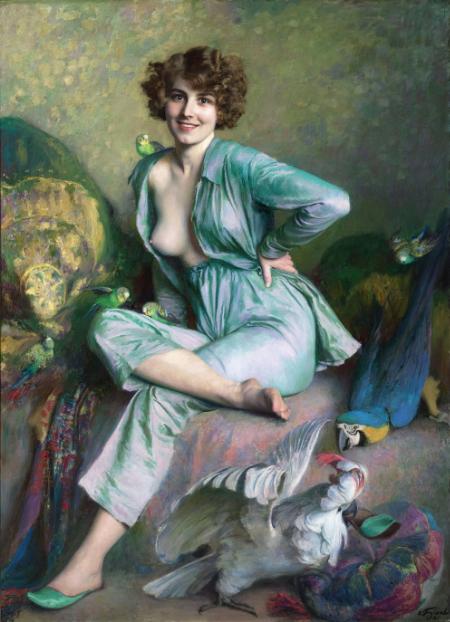 La femme à l'oiseau, d'Emile Friant.