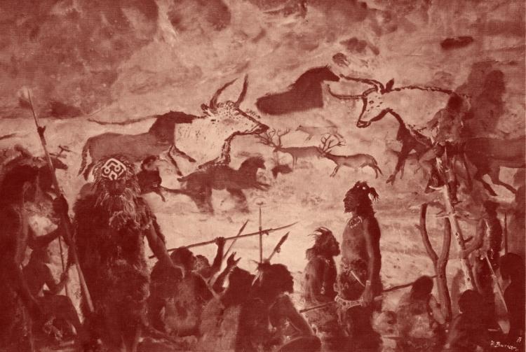 Les magdaléniens avaient trouvé des abris, nous, des rêves. Peintre Zdenëk Burian.