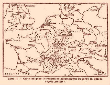 Le goître en Europe XIX ième siècle