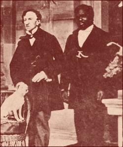 James Barry, accompagné de son serviteur.