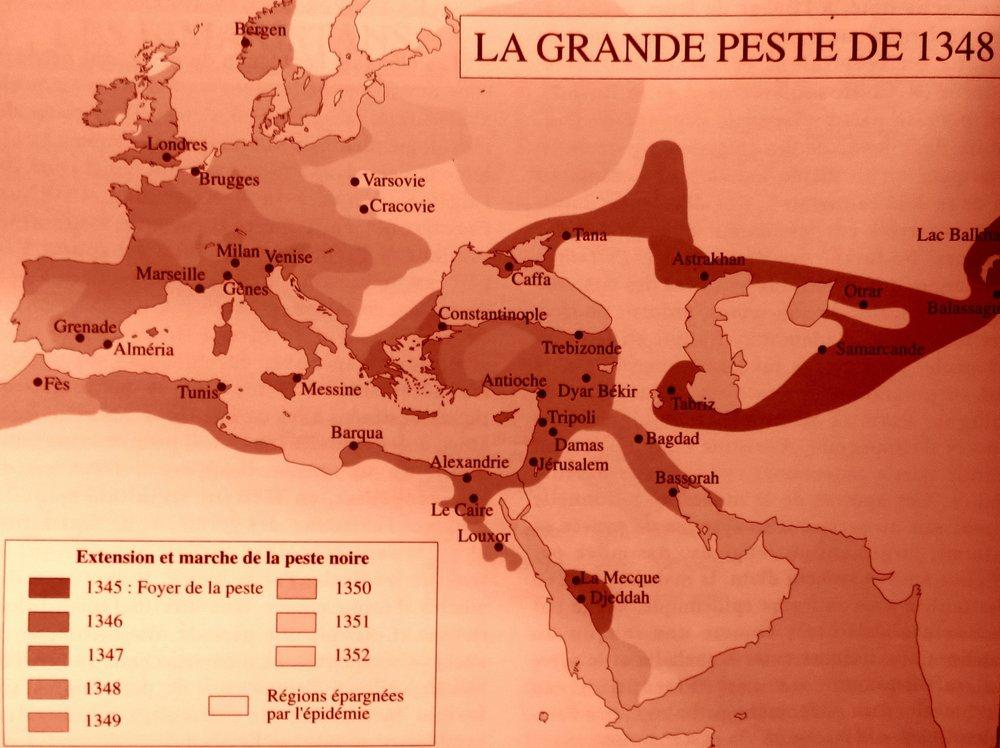 Son extension est superposable à la carte de la densité de population.