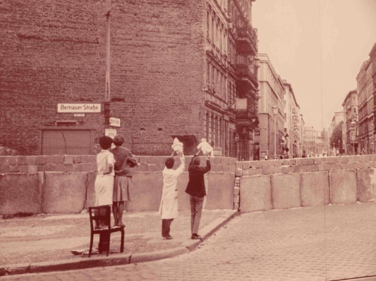 Le mur de Berlin, du temps du rideau de fer