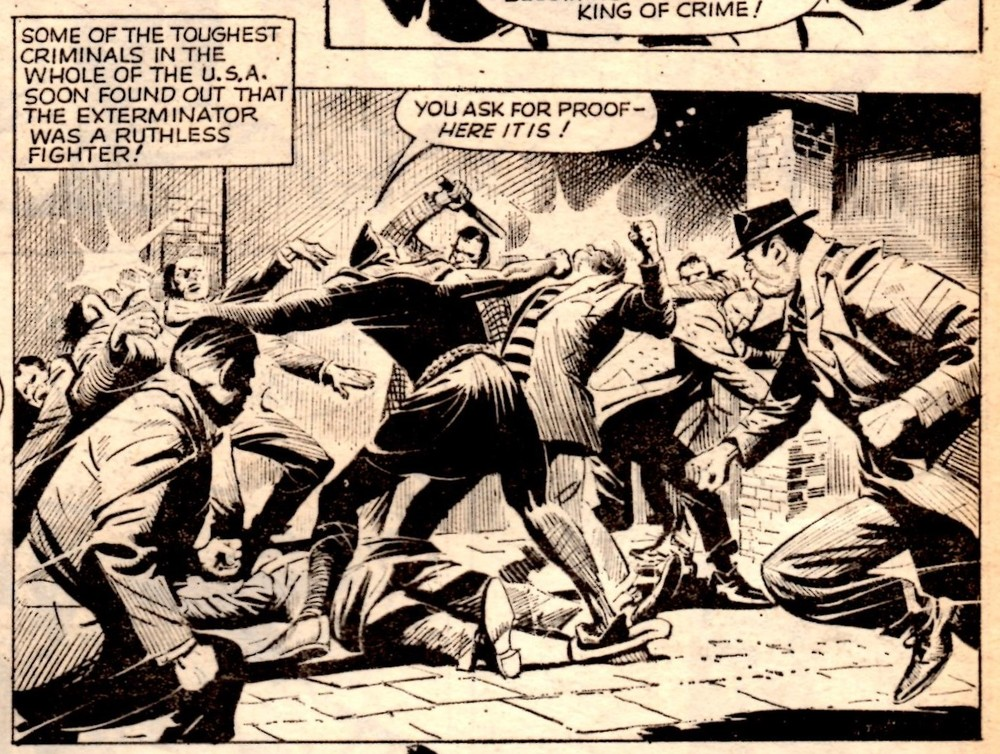 The Spider v. The Exterminator: Jerry Siegel (writer), Reg Bunn (artist)