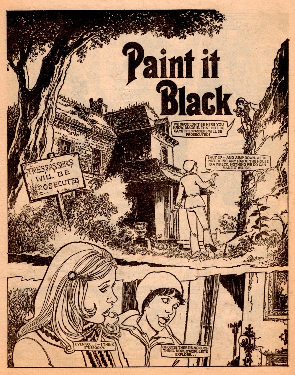 Paint it Black: Pat Mills (writer), Brian Delaney (artist)