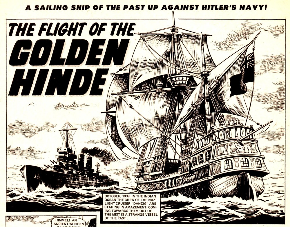 The Flight of the Golden Hinde: S Conforth (writer), artist unknown