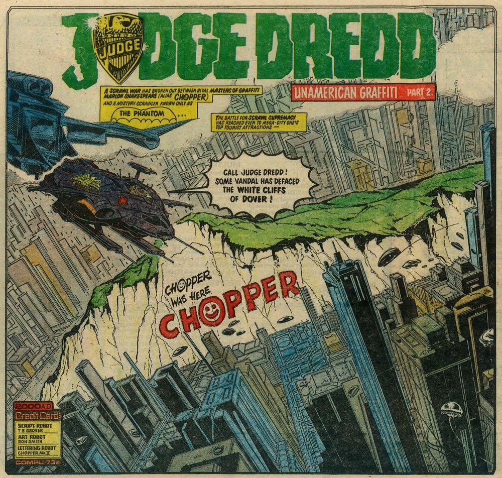 Judge Dredd: Unamerican Graffiti: John Wagner (writer), Ron Smith (artist)